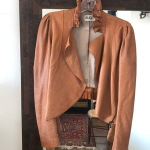 Temperley London leather cropped jacket